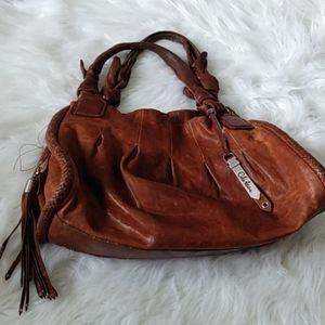 Cole Haan brown leather distressed handbag